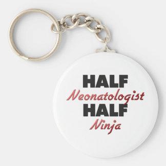 Half Neonatologist Half Ninja Basic Round Button Keychain