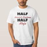 Half Network Engineer Half Ninja Shirt