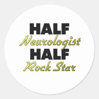 Half Neurologist Half Rock Star Round Stickers