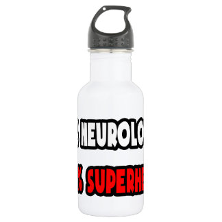 Half Neurologist ... Half Superhero Stainless Steel Water Bottle