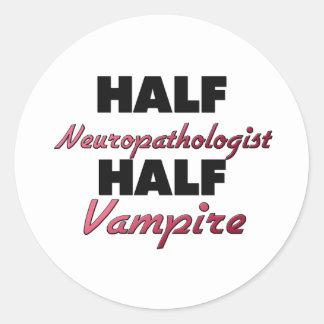 Half Neuropathologist Half Vampire Stickers