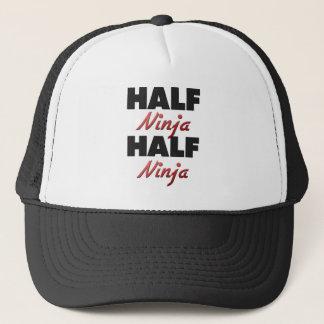 Half Ninja Half Ninja Trucker Hat