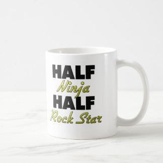 Half Ninja Half Rock Star Mugs