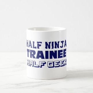 Half Ninja Trainee Half Geek Magic Mug