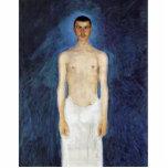 Half-Nude Self-Portrait Against A Blue Background Photo Cut Outs