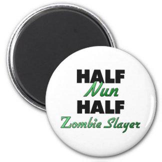 Half Nun Half Zombie Slayer Magnet