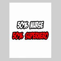 Half Nurse...Half Superhero Postcard