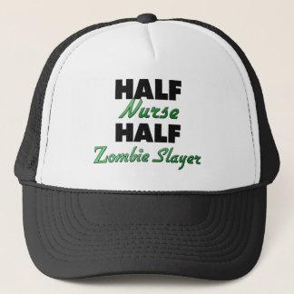 Half Nurse Half Zombie Slayer Trucker Hat