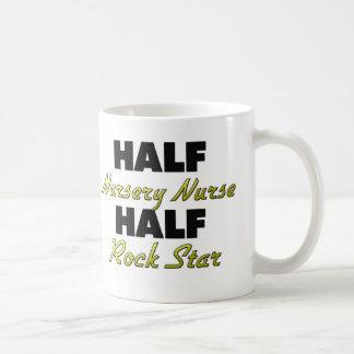 Half Nursery Nurse Half Rock Star Coffee Mug