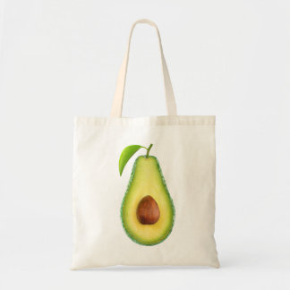 Half of avocado tote bag