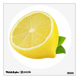 Half of lemon wall sticker
