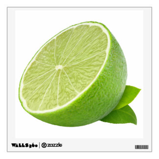 Half of lime wall sticker