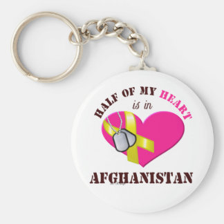 Half of my heart..AFGHANISTAN 3 Basic Round Button Keychain