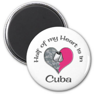 Half of my heart Cuba 2 Inch Round Magnet