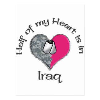 Half of my heart Iraq Post Card