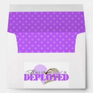 Half of my heart is deployed envelope