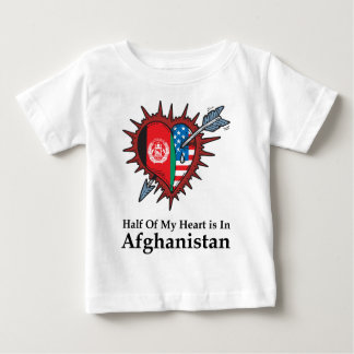 Half Of My Heart Is In Afghanistan Baby T-Shirt