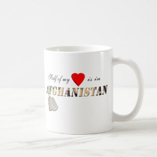 Half of my Heart is in Afghanistan Coffee Cup Classic White Coffee Mug