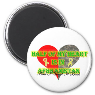 Half Of My Heart Is In Afghanistan Refrigerator Magnet