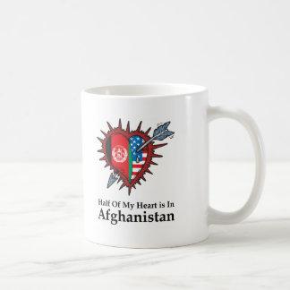 Half Of My Heart Is In Afghanistan Classic White Coffee Mug