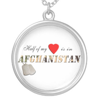 """Half of my Heart is in Afghanistan""  Necklace"