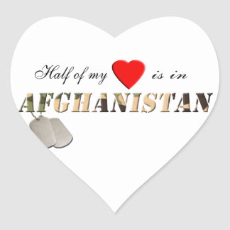 Half of my Heart is in Afghanistan Stickers