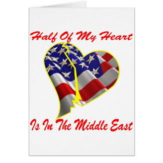 Half Of My Heart Is In The Middle East Cards