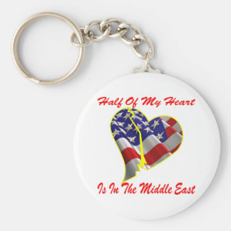 Half Of My Heart Is In The Middle East Keychain