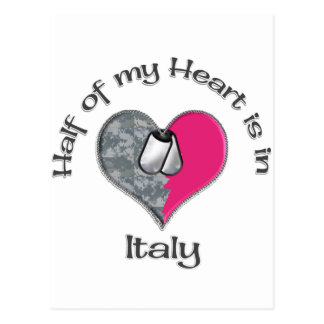 Half of my heart Italy Post Cards