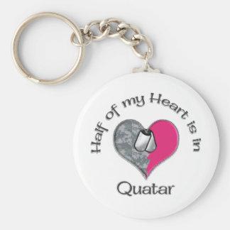 Half of my heart Quatar Basic Round Button Keychain