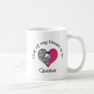 Half of my heart Quatar Classic White Coffee Mug