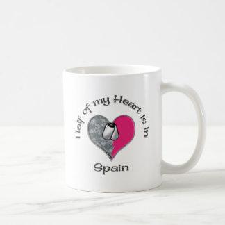 Half of my heart spain classic white coffee mug