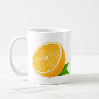 Half of orange fruit coffee mug