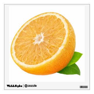 Half of orange fruit wall decal