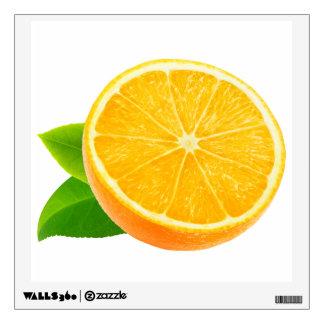 Half of orange fruit wall sticker