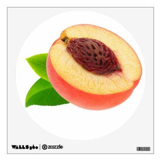Half of peach wall sticker