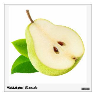 Half of pear wall sticker