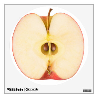 Half of red apple wall sticker