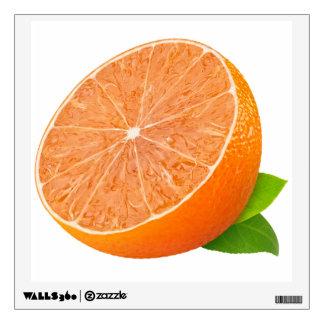 Half of tangerine wall sticker