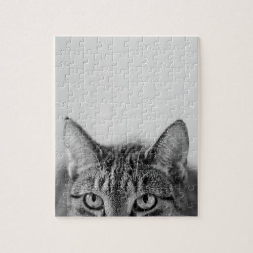 Half of the cat portrait jigsaw puzzle