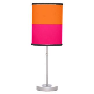 Half Orange and Bright Pink Desk Lamp