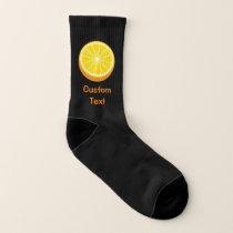 Half Orange Socks