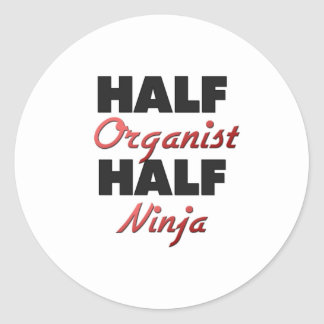 Half Organist Half Ninja Round Sticker