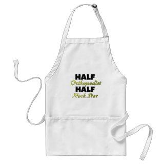 Half Orthopedist Half Rock Star Adult Apron