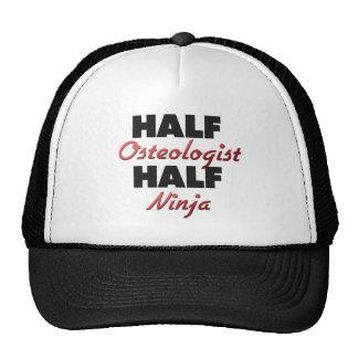 Half Osteologist Half Ninja Mesh Hats