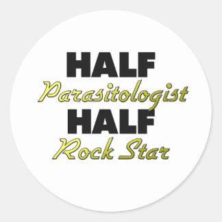 Half Parasitologist Half Rock Star Classic Round Sticker
