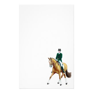 Half Pass Bay Dressage Horse Stationery