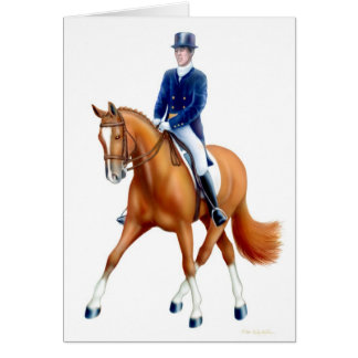 Half Pass Dressage Horse Card