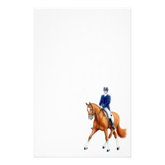 Half Pass Dressage Horse Stationery