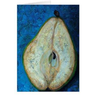 Half Pear card